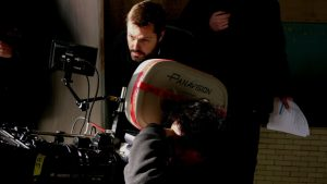 Writer/director Robert Edwards on the set of One More Time