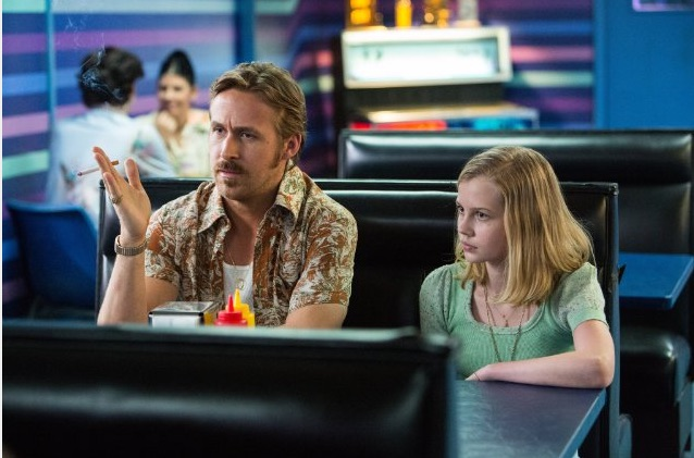 Ryan Gosling and Angourie Rice in The Nice Guys . Photo courtesy: Warner Bros.