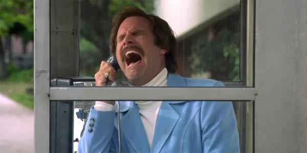 """I'm in a glass case of emotion!"" Anchorman, 2004. Photo courtesy: DreamWorks"