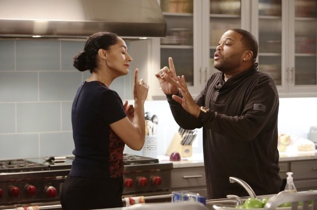 Anthony Anderson and Tracee Ellis Ross in Blackish, the show about a father who thinks his children have lost their roots. Photo courtesy: ABC