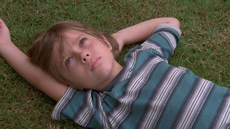 Grassy moment of reflection. Boyhood, 2014. Photo courtesy: Universal