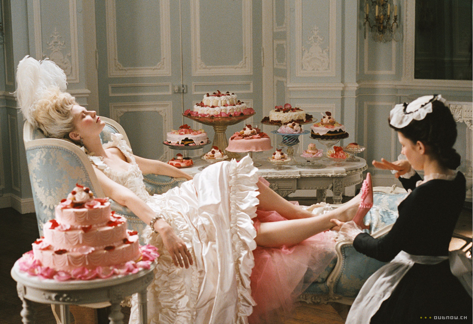 Mmmmm, cake. Marie Antoinette (2006) Photo courtesy: Columbia Pictures