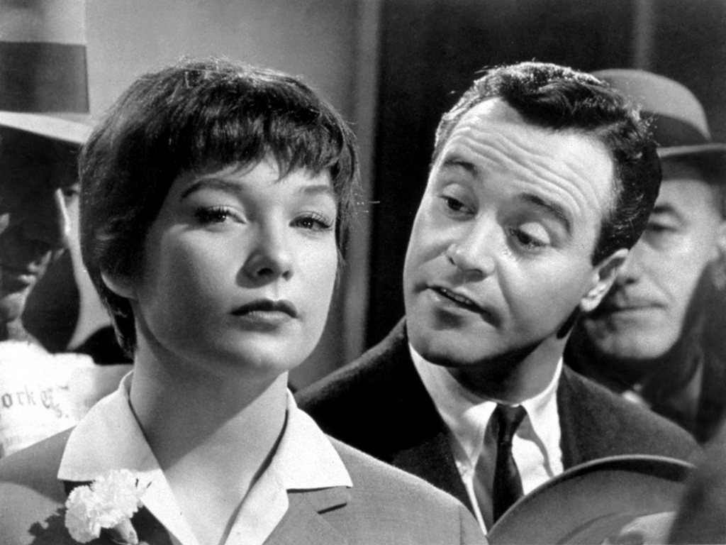 Jack Lemmon asking Shirley MacLaine if she knows where this story is going. The Apartment (1960) Photo courtesy United Artists