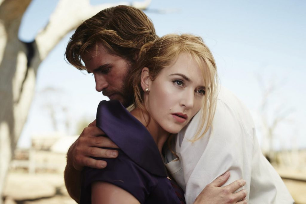 Kate Winslet and Liam Hemsworth in The Dressmaker. Photo courtesy: Screen Australia