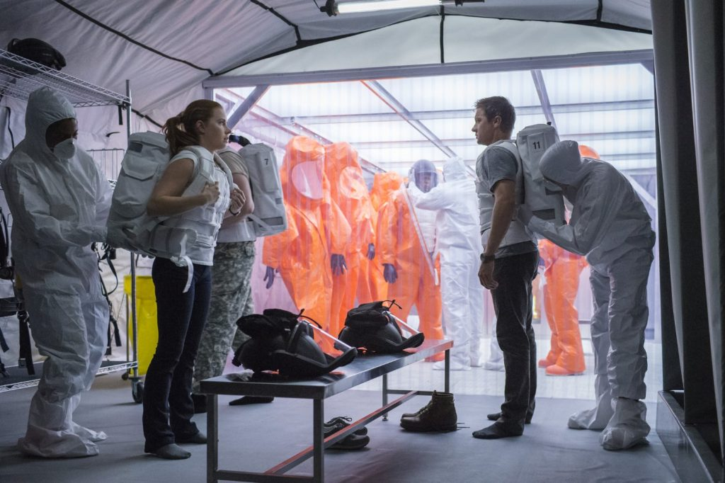 Amy Adams and Jeremy Renner in Arrival. Photo courtesy: Paramount Pictures