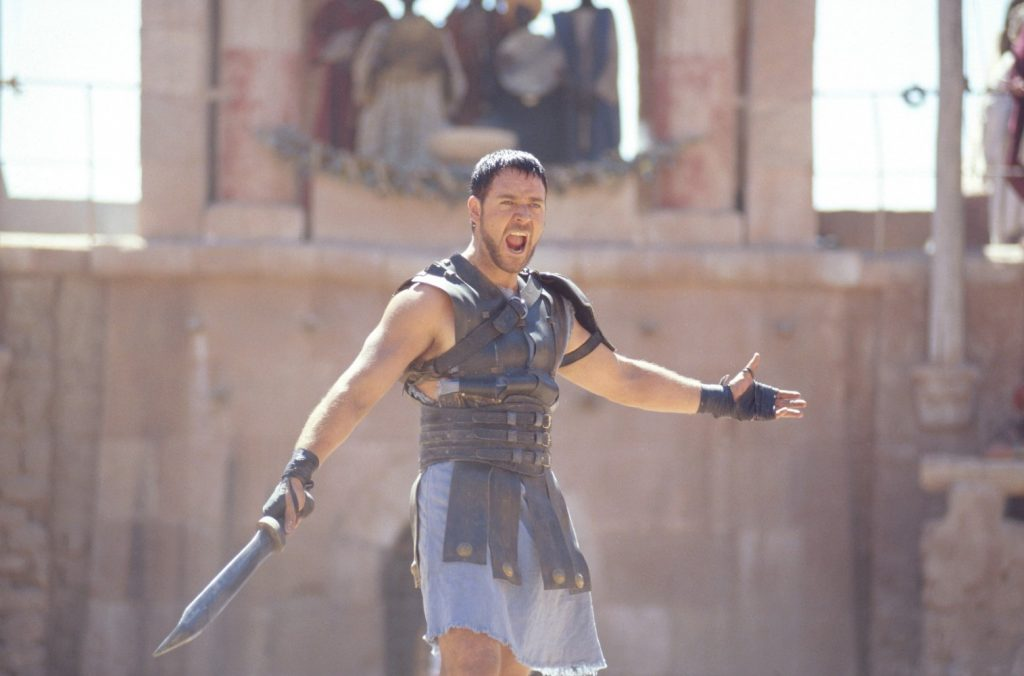 "Russell Crowe plays... wait for it... ""Maximus Decimus Meridius"" in Gladiator. Photo courtesy: Universal Pictures"