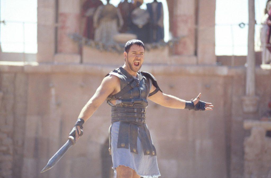 "Russell Crowe plays... wait for it... ""Maximus Decimus Meridius"" in Gladiator. Photo courtesy: Universal Pictures"