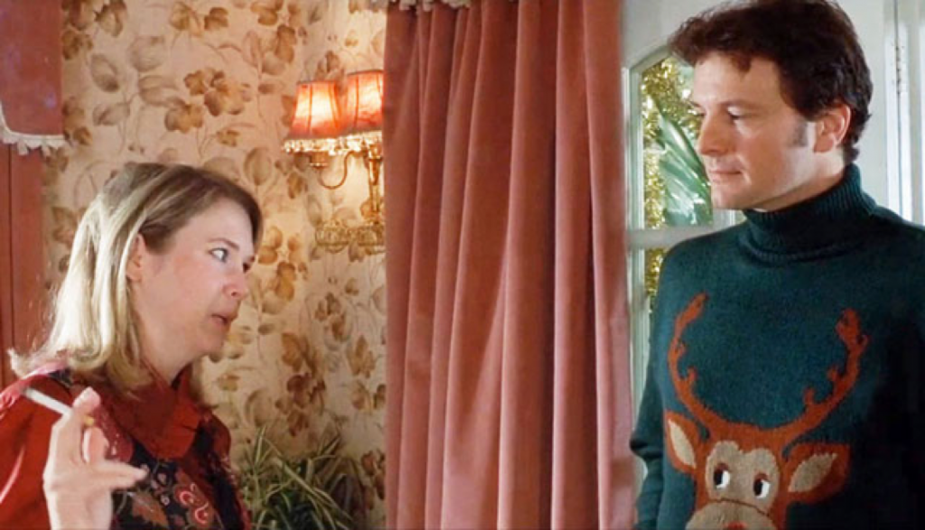The film that made ugly holiday sweaters cool. Bridget Jones's Diary. Photo courtesy: Miramar