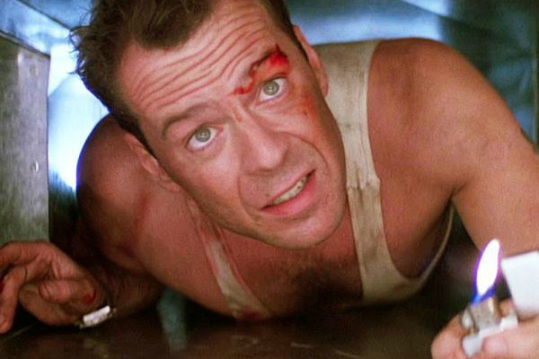 John McClane fights bad guys at Christmastime. Photo courtesy: Twentieth Century Fox